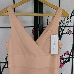 J. Crew Dresses - NEW J Crew SOPHIA DRESS Silk Apricot Formal Wrap